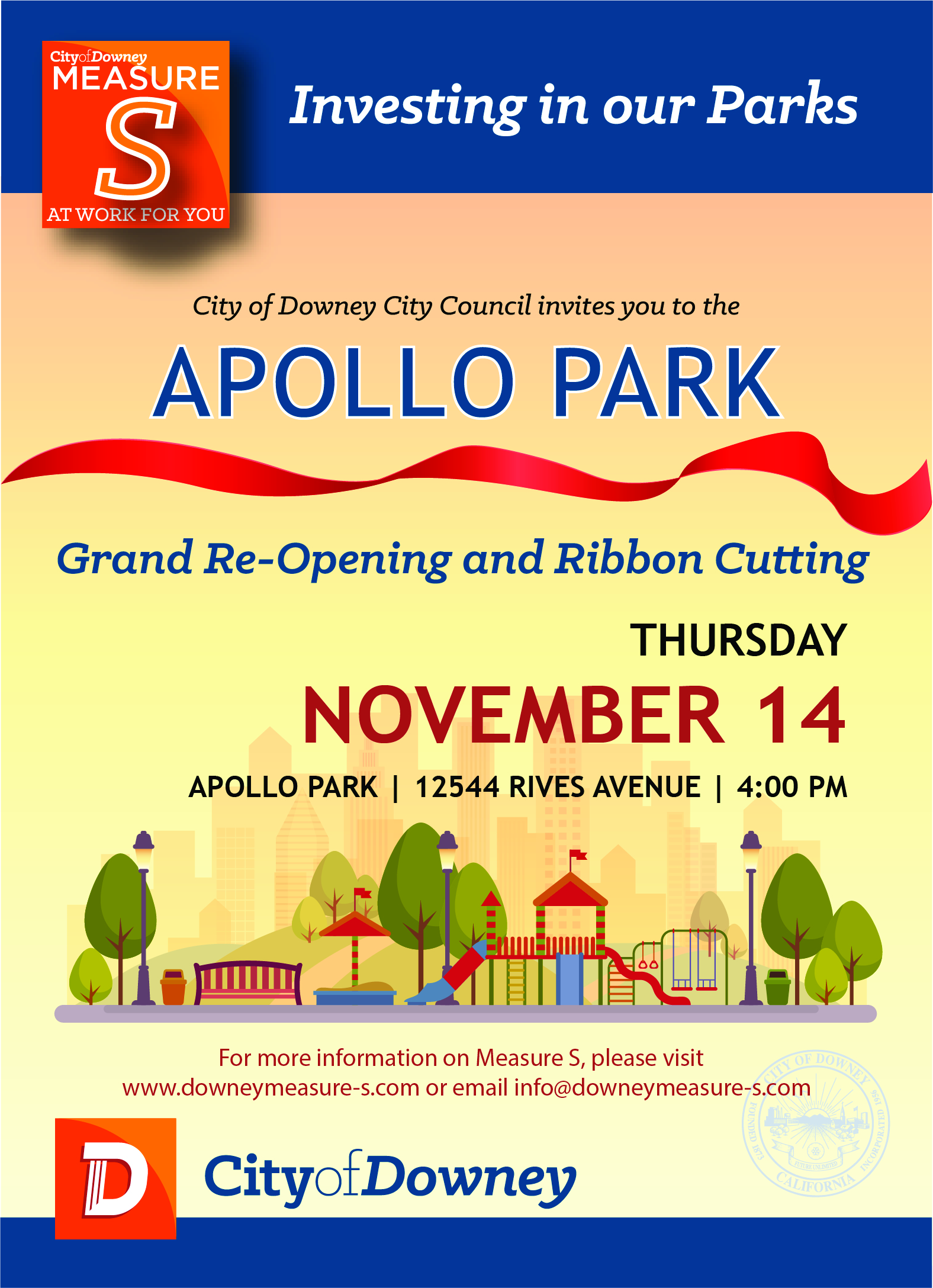 Apollo Park Gran Re -Opening and Ribbon Cutting Ceremony