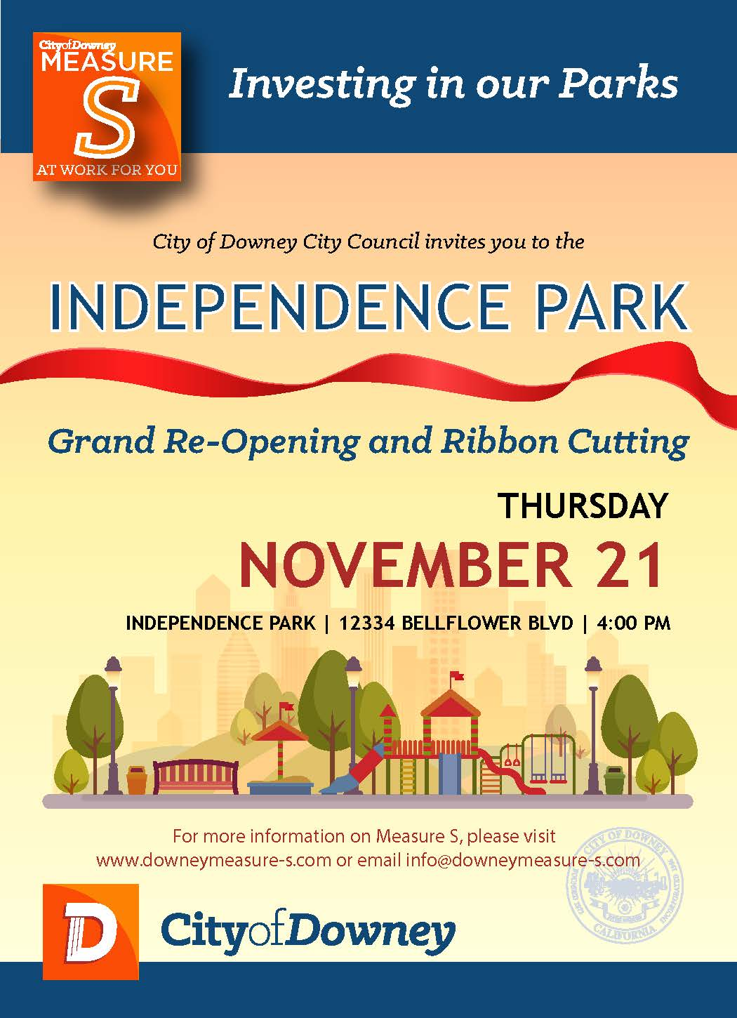 Independence Park Grand Re-Opening and Ribbon Cutting Ceremony