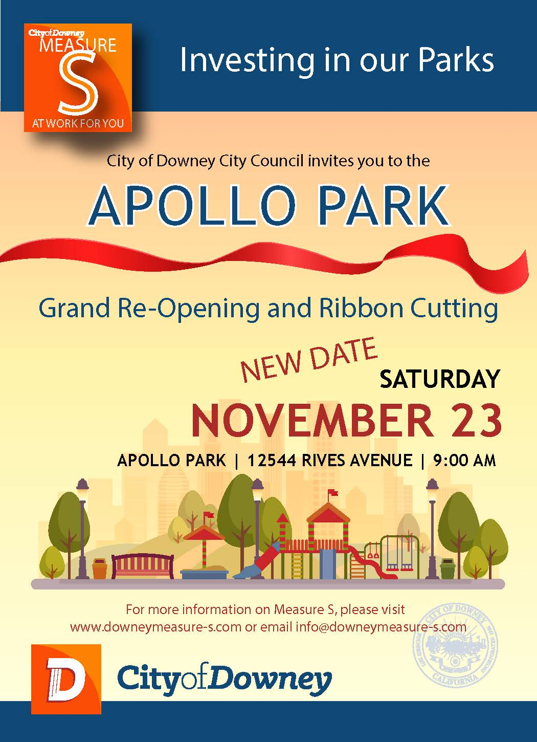 Apollo Park Grand Re-Opening and Ribbon Cutting Ceremony