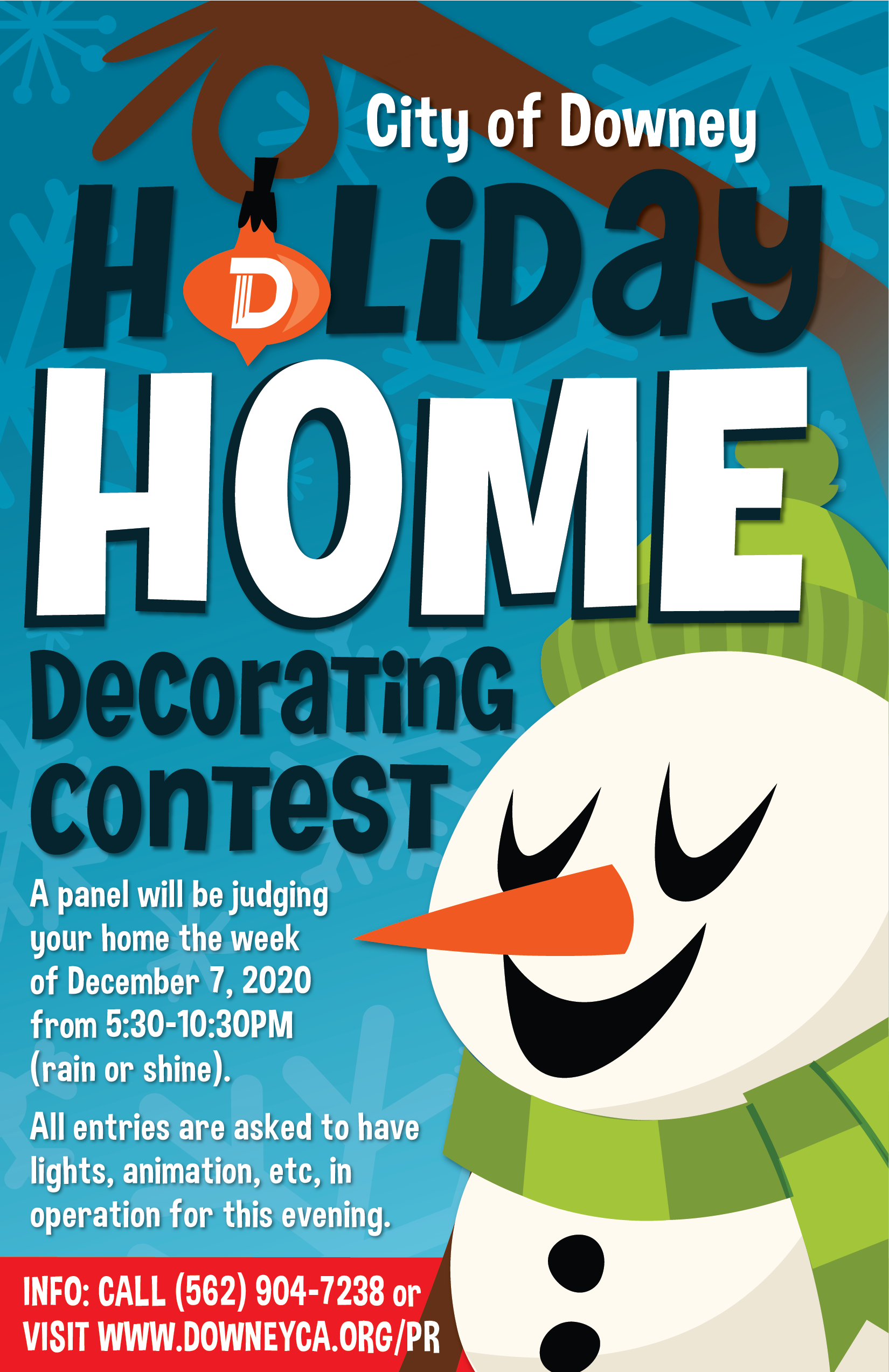 Holiday Home Decorating Contest City Of Downey Ca