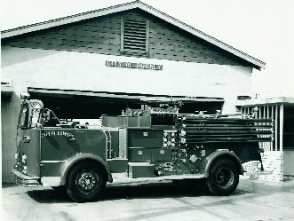 Fire station & truck from 1957