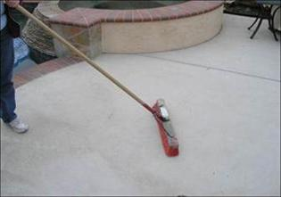 Sweeping a driveway