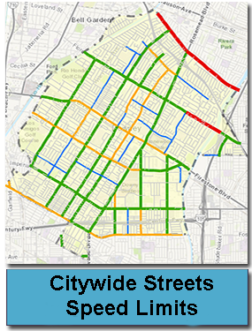 Citywide Streets Speed Limits