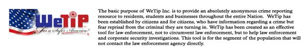 WeTip Anonymous Crime Reporting