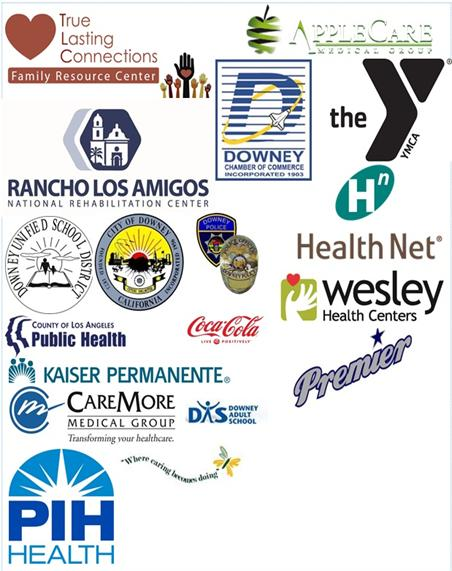 2015 Healthy Downey Partner Logos